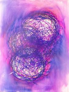 focusing-on-three - Felt Pen on Canvas by Matt Swift